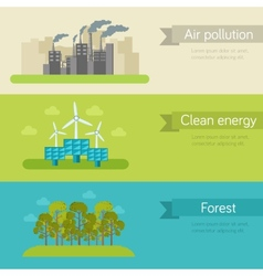 ecological horizontal banners vector image