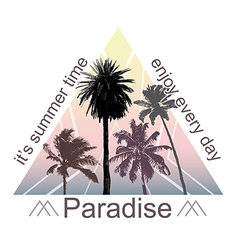 Exotic print with palms for t-shirt vector