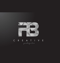 Fb f b letter logo with zebra lines texture vector