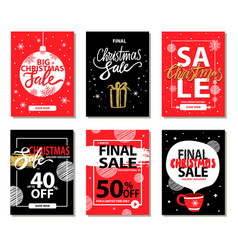 Final christmas sale red black vector