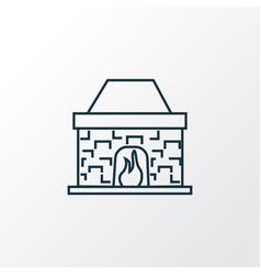 fireplace icon line symbol premium quality vector image