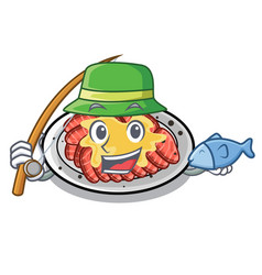 Fishing carpaccio isolated with in mascot vector