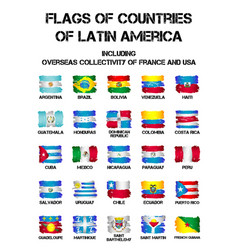 Flags of latin america countries vector