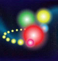 Flying power balls vector image