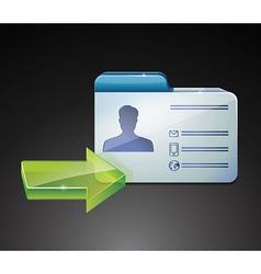 Glossy indentivication card vector