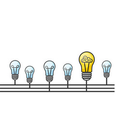 grunge with light bulbs and place vector image