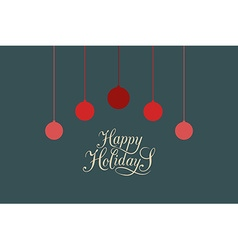 Hand sketched Happy Holidays logotype badge and vector