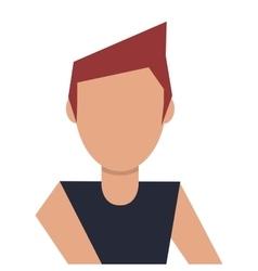 Head of man brown hair vector