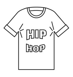 hip hop tshirt icon outline style vector image