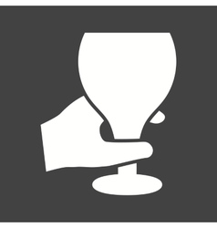 Holding Wine Goblet vector image