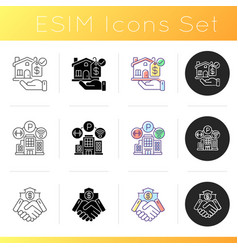 House amenities icons set vector