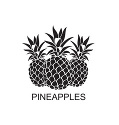 Image pineapple fruits vector