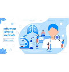 Influenza vaccination time to vaccinate syringe vector