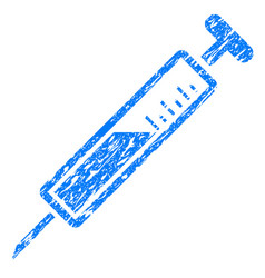 Injection grunge icon vector