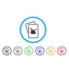 Joker gaming cards icon vector