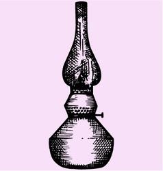 Kerosene lamp lantern vector image