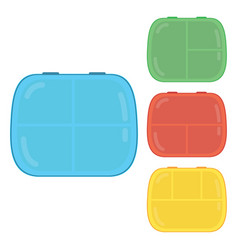 kids lunch boxes vector image