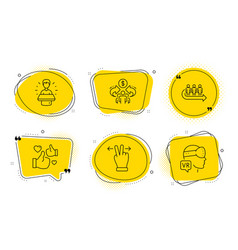 Like queue and brand ambassador icons set vector