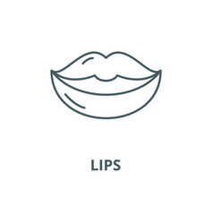 lips line icon linear concept outline vector image