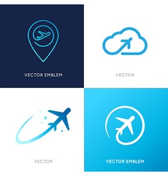 logo design templates vector image