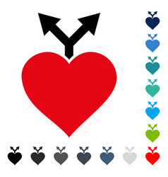 love variants icon vector image