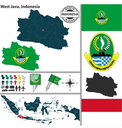 map west java vector image