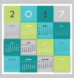 Modern calendar design vector
