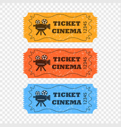 movie tickets different colors vector image