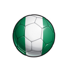Nigerian flag football - soccer ball vector