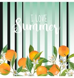 Orange floral background vintage pattern vector