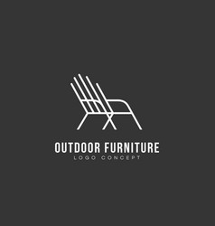 outdoor furniture logo vector image