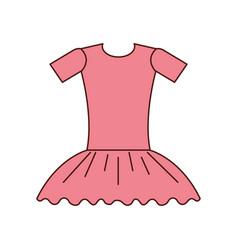 pink ballet dress ballet dress elegant costume vector image