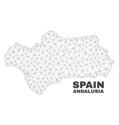 Polygonal mesh andalusia province map vector