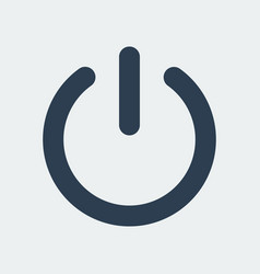 power turn off icon vector image