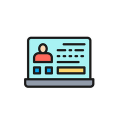resume online jobs employee profile flat vector image