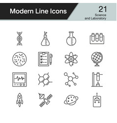 science and laboratory icons vector image