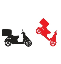 Scooter silhouette - fast delivery service symbol vector