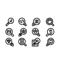 search icon template set sign design vector image
