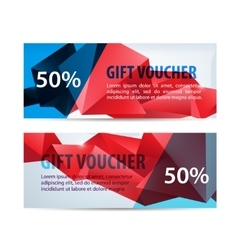 Set of colorful gift faceted vouchers vector