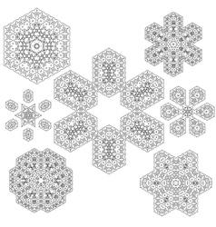Set of Rosettes vector