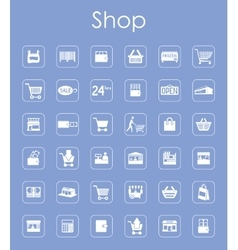 Set of shop simple icons vector