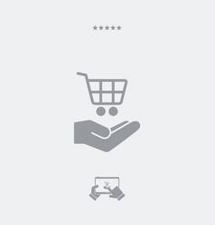 shop cart - minimal modern icon vector image