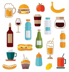 simple food icons1 vector image
