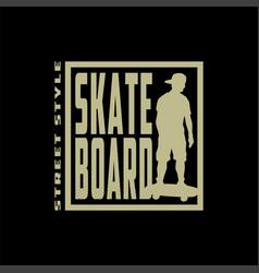 skateboarding t-shirt design urban skating vector image