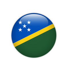 solomon islands flag on button vector image