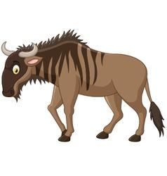 Strong of animals wildebeest vector