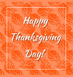thanksgiving day in canada leaf prints background vector image