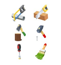 Tools set of icon vector