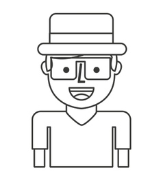 Tourist avatar isolated icon vector