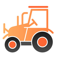 tractor flat icon agrimotor color icons in trendy vector image
